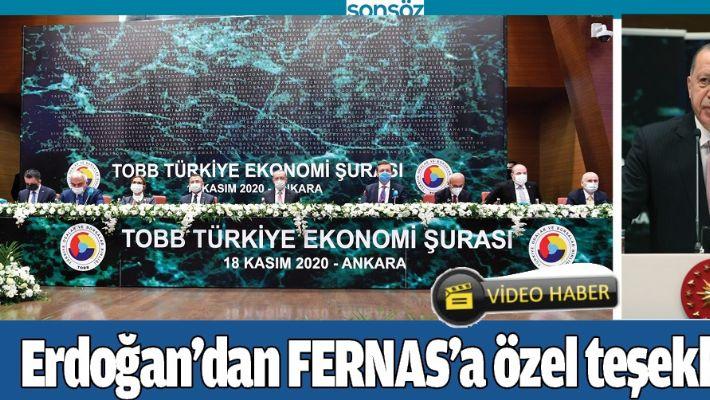 ERDOĞAN'DAN FERNAS'A ÖZEL TEŞEKKÜR