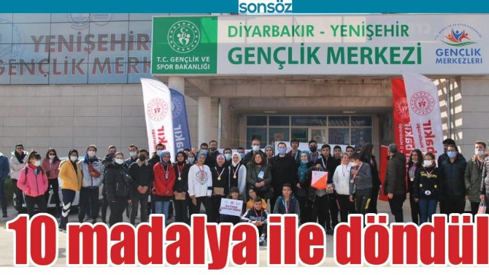 DİYARBAKIR'DAN 10 MADALYA İLE DÖNDÜLER