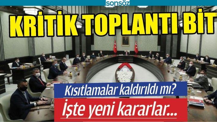 KRİTİK TOPLANTI BİTTİ, İŞTE YENİ KARARLAR