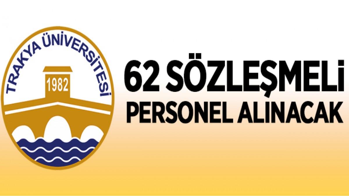 62 PERSONEL ALINACAK