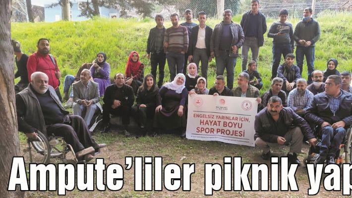 AMPUTE'LİLER PİKNİK YAPTI