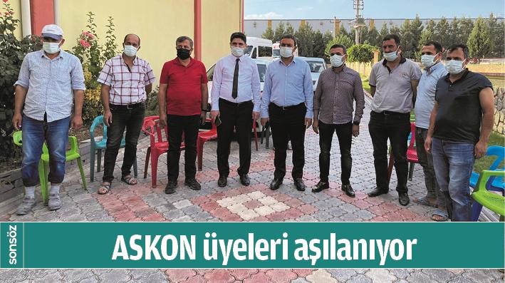 ASKON ÜYELERİ AŞILANIYOR