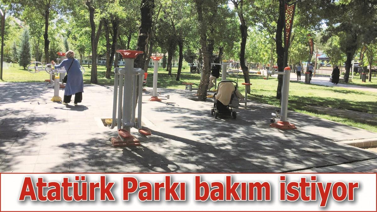 ATATÜRK PARKI BAKIM İSTİYOR