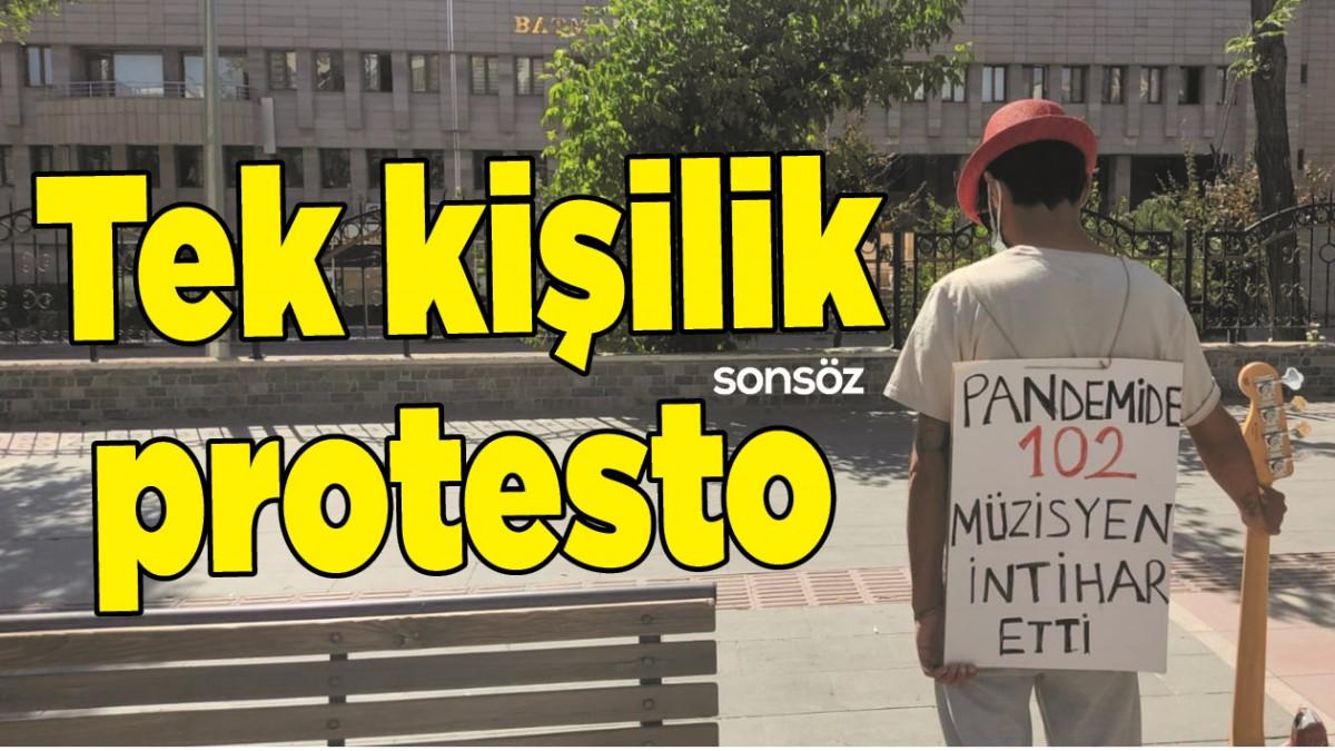 BATMAN'DA TEK KİŞİLİK PROTESTO