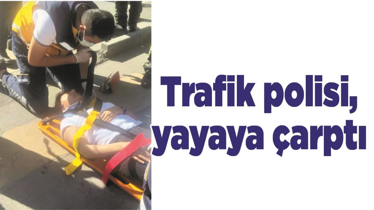 BATMAN'DA TRAFİK POLİSİ, YAYAYA ÇARPTI