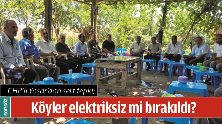CHP'Lİ YAŞAR'DAN SERT TEPKİ