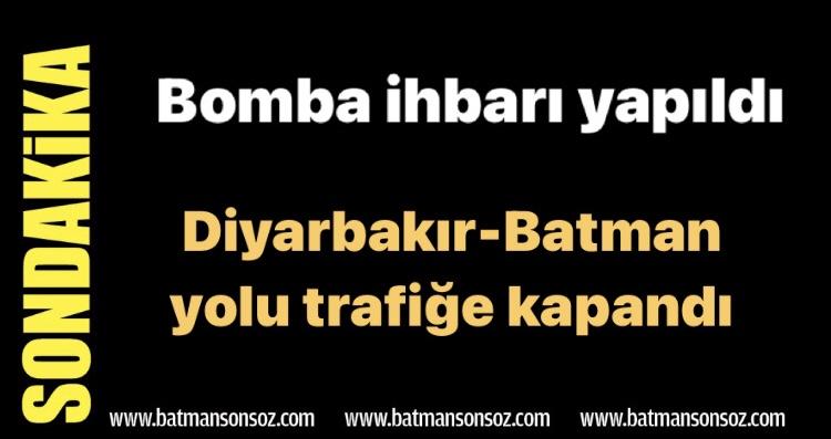 Diyarbakır- Batman yolunda el yapımı patlayıcı imha edildi