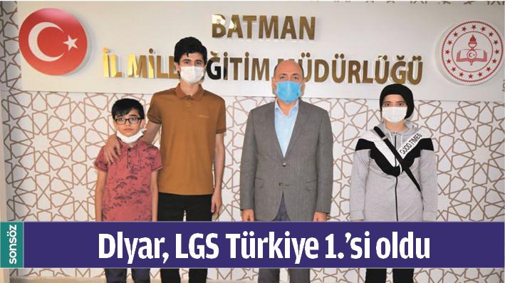 DLYAR, LGS TÜRKİYE 1.'Sİ OLDU
