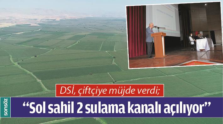 DSİ, çiftçiye müjde verdi