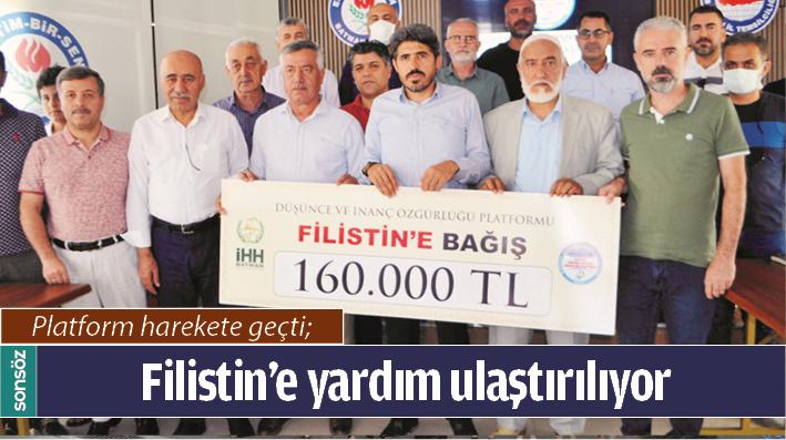 FİLİSTİN'E YARDIM ULAŞTIRILIYOR