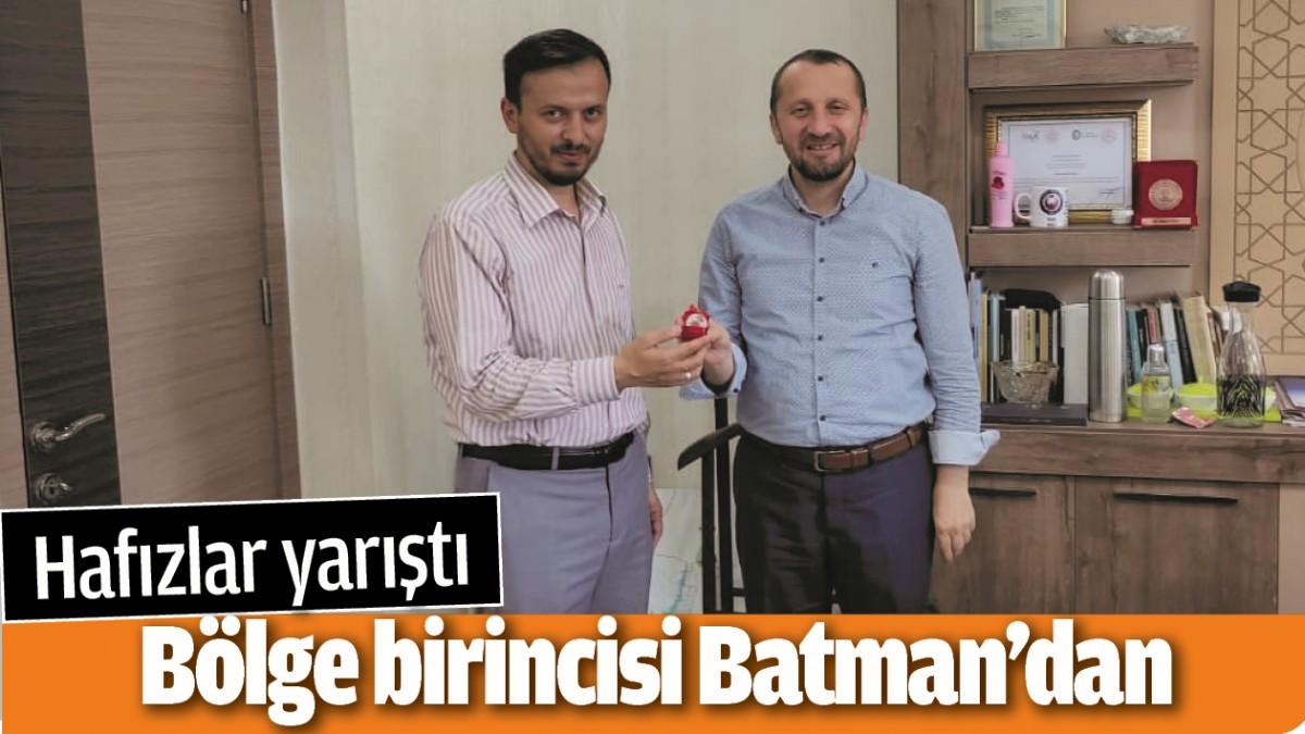 HAFIZLAR YARIŞTI, BÖLGE BİRİNCİSİ BATMAN'DAN