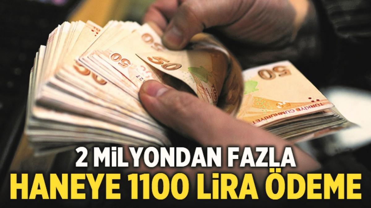 HANE BAŞI 1100 LİRA ÖDEME