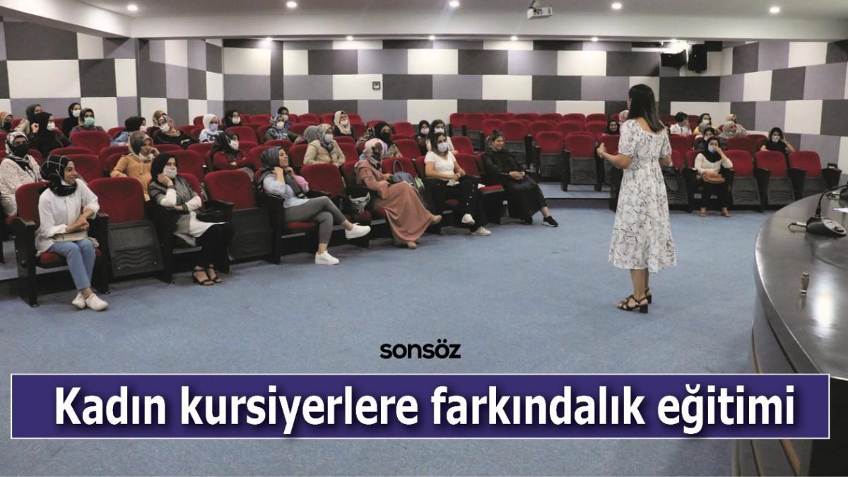 Kadın kursiyerlere farkındalık eğitimi