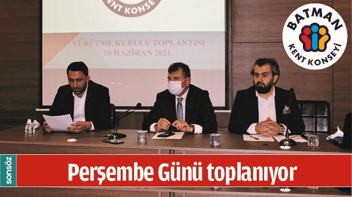 KENT KONSEYİ PERŞEMBE GÜNÜ TOPLANIYOR