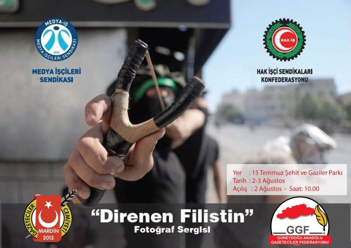 """MARDİN'DE """"DİRENEN FİLİSTİN"""" FOTOĞRAF SERGİSİ PAZARTESİ AÇILIYOR"""