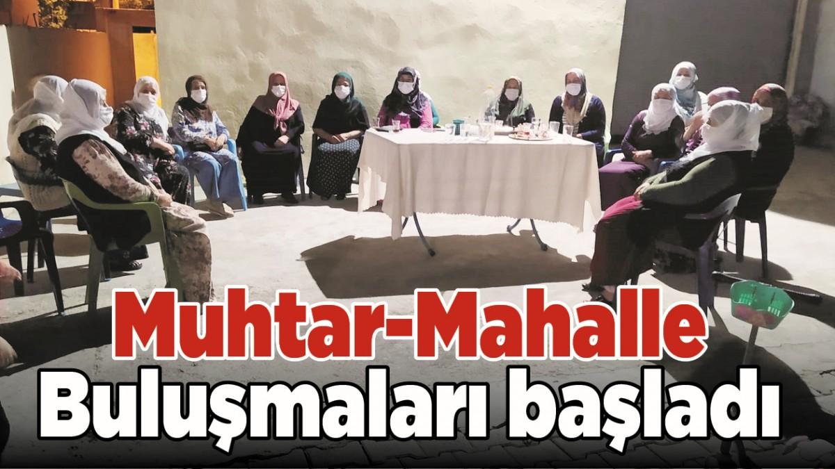 MUHTAR-MAHALLE BULUŞMALARI BAŞLADI