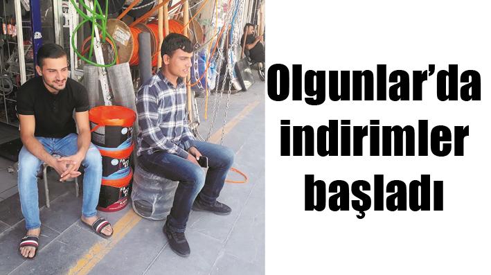 OLGUNLAR'DA İNDİRİMLER BAŞLADI