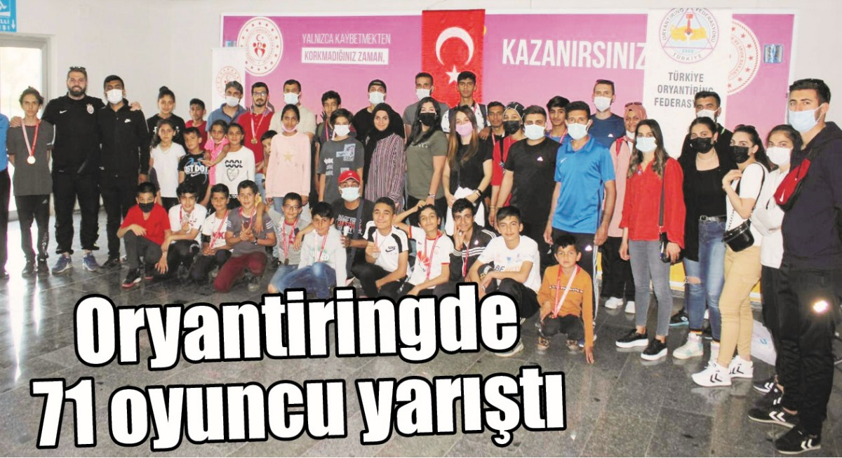 ORYANTİRİNGDE 71 OYUNCU YARIŞTI