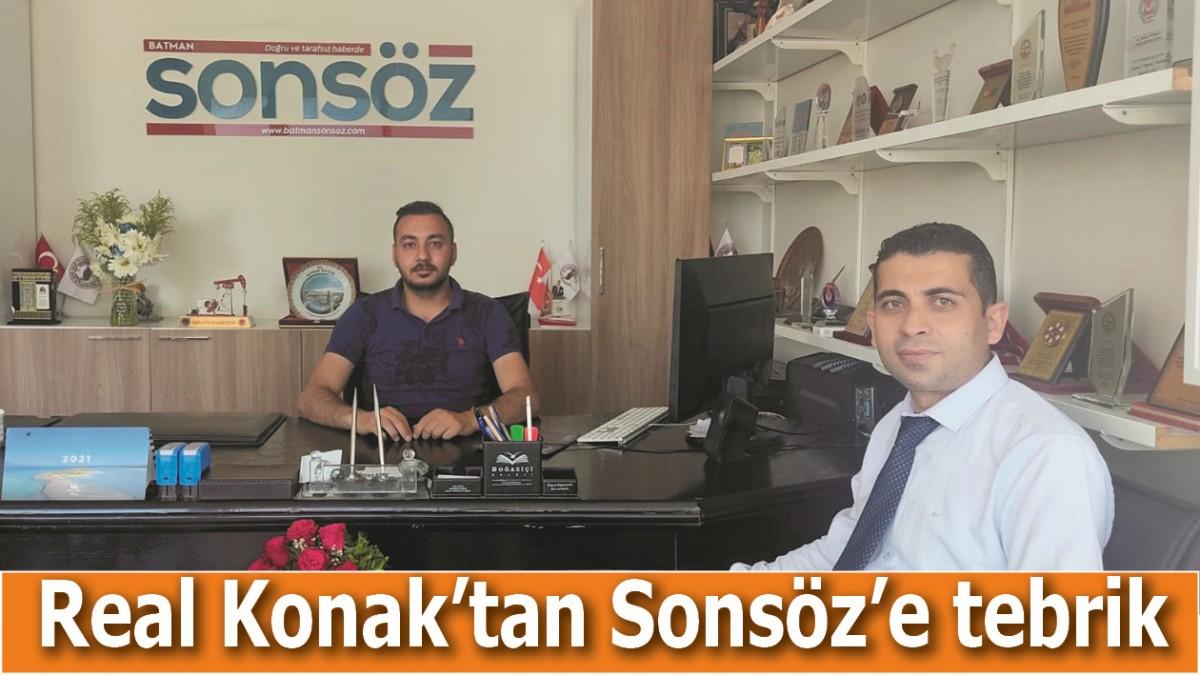 REAL KONAK'TAN SONSÖZ'E TEBRİK