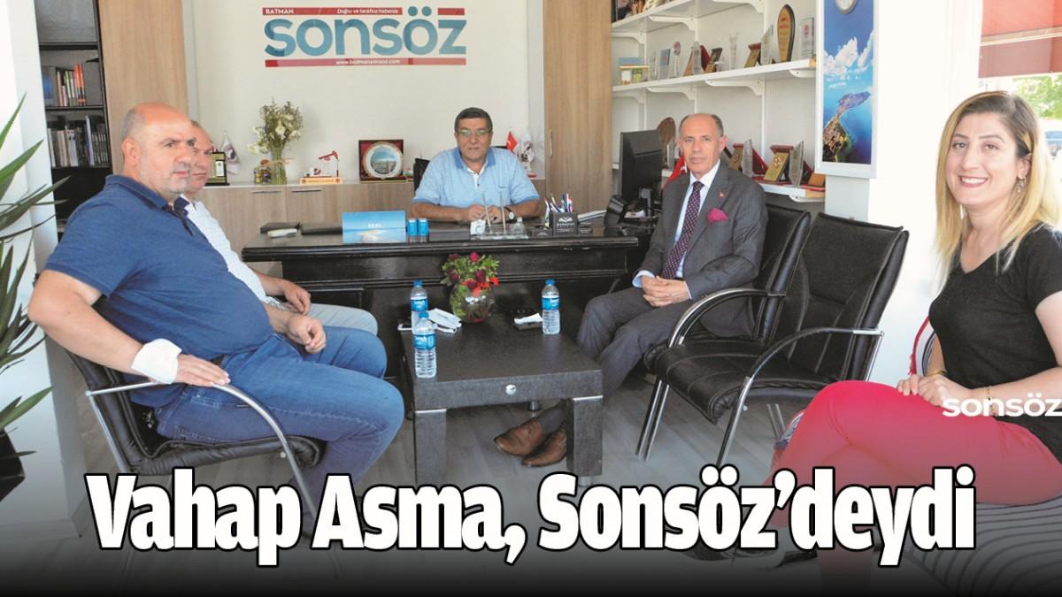 VAHAP ASMA, SONSÖZ'DEYDİ