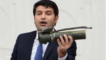 HDP'li Aslan  Meclis kürsüsüne roket atarla çıktı