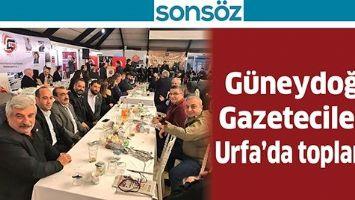 GÜNEYDOĞU GAZETECİLERİ, URFA'DA TOPLANDI