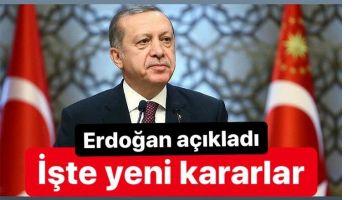 İŞTE ALINAN YENİ KARARLAR..