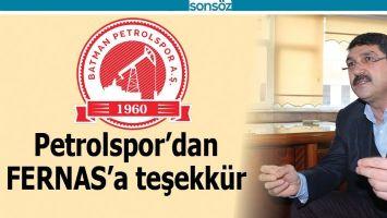 PETROLSPOR'DAN FERNAS'A TEŞEKKÜR