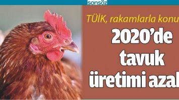 2020'DE TAVUK ÜRETİMİ AZALDI