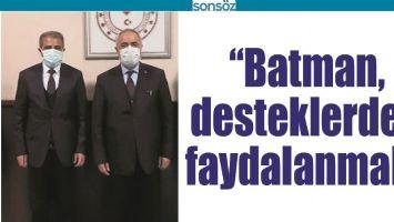 """""""BATMAN, DESTEKLERDEN FAYDALANMALI"""""""