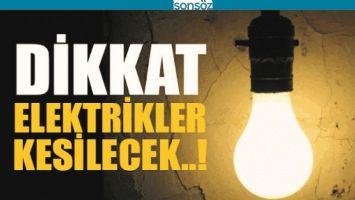 BATMAN'DA ELEKTRİKLER KESİLECEK!