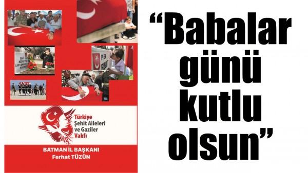"""""""BABALAR GÜNÜ KUTLU OLSUN"""""""