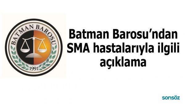 BATMAN BAROSU'NDAN SMA HASTALARIYLA İLGİLİ AÇIKLAMA