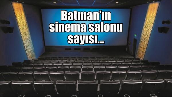 BATMAN'IN SİNEMA SALONU SAYISI...