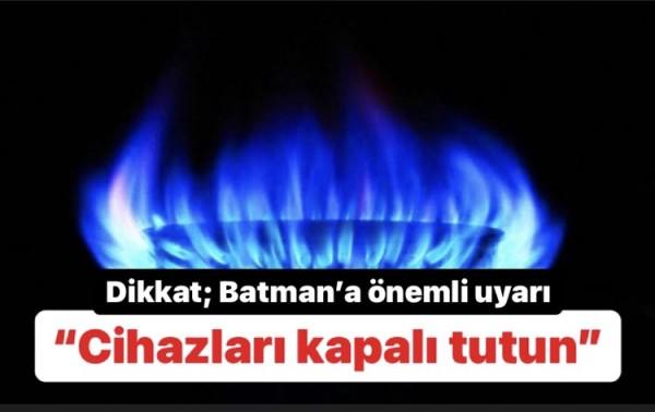 Dikkat; Batman'a önemli uyarı