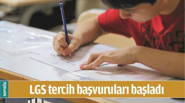 LGS TERCİH BAŞVURULARI BAŞLADI