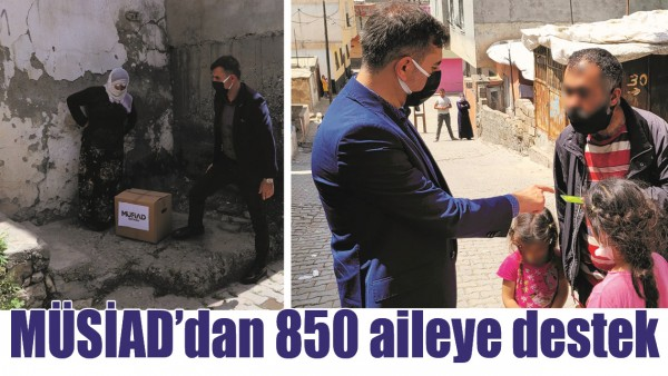 MÜSİAD'DAN 850 AİLEYE DESTEK