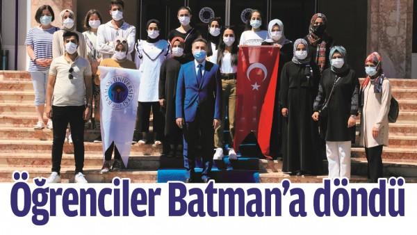 ÖĞRENCİLER BATMAN'A DÖNDÜ