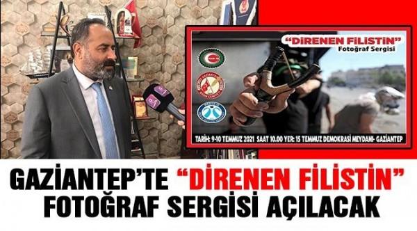 """""""DİRENEN FİLİSTİN"""" FOTOĞRAF SERGİSİ AÇILACAK"""
