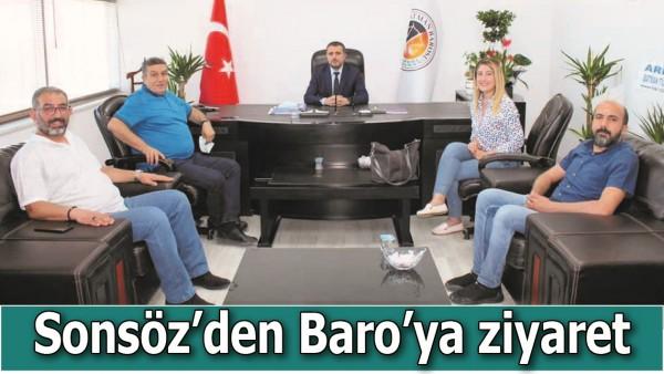 SONSÖZ'DEN BARO'YA ZİYARET