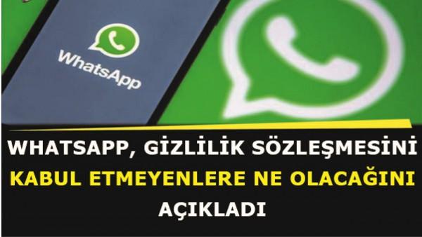 WhatsApp sözleşmesini kabul etmeyenlere uygulanacak yaptırımlar